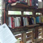 Bücherregal auf dem Wilde Möhre Festival '06